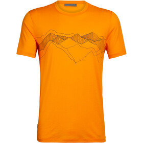 Icebreaker Tech Lite Peak Patterns T-shirt Col ras-du-cou Homme, sun